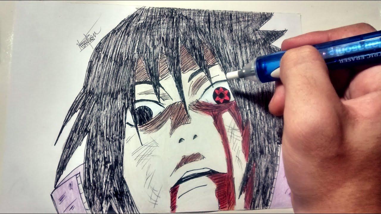 Drawing - Sasuke Mangekyou Sharingan - YouTubeItachi Mangekyou Sharingan Drawing