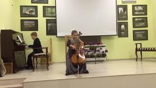 Ж.-Б. Перголези ''Песня''.Марк Серапионов, 7 лет (Фортепиано)  Анастасия Любина, 8 лет (виолончель).