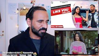 Garry Sandhu | Like U (TERE JAISI)| Manpreet Toor | REACTION VIDEO | Mansoor Elahi