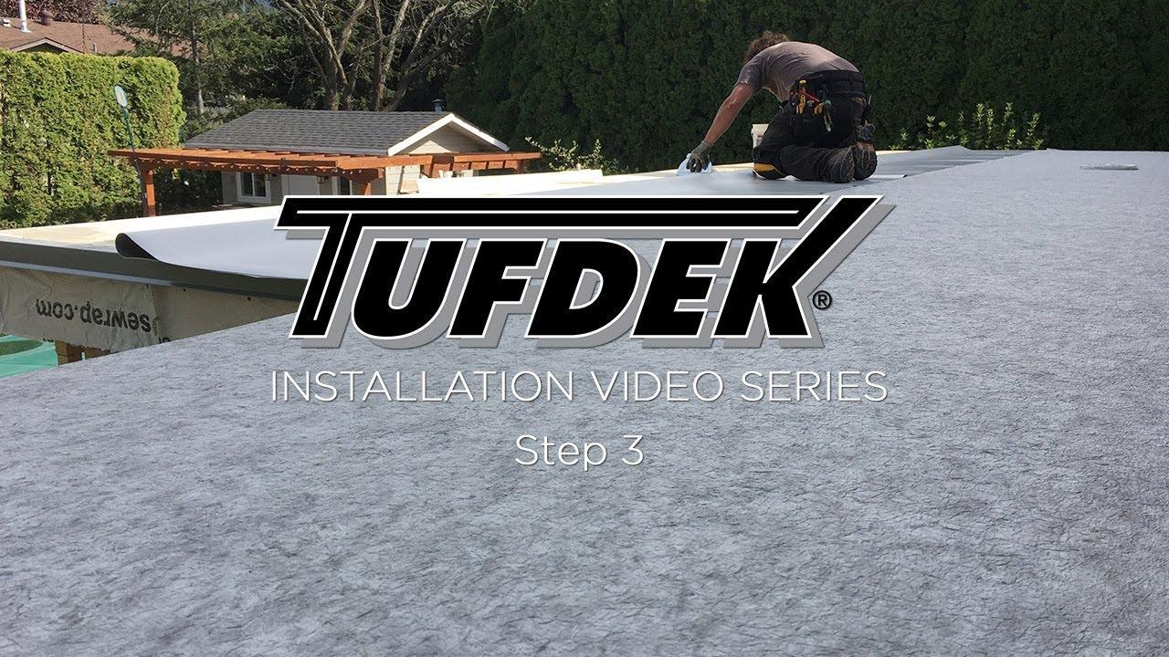 Tufdek™ Waterproof Vinyl Decking Install - Step 3 - Installing Deck Flashing