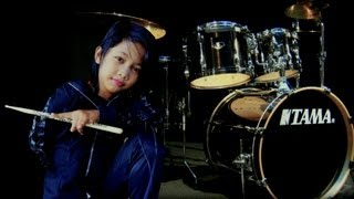 Kid Drummer (10 year old Malaysia Young Lady Rocker)