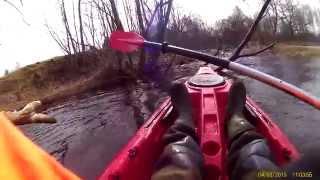 КАЯК для рыбалки- пробный заплыв(длина 380 ширина 76 вес 25 и держит до 160кг Опробовал и решил взять,везде можно проплыть,быстрый ход,устойчивый..., 2015-04-08T18:21:51.000Z)