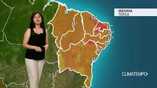 Previsão Nordeste – Interior do CE com pancadas