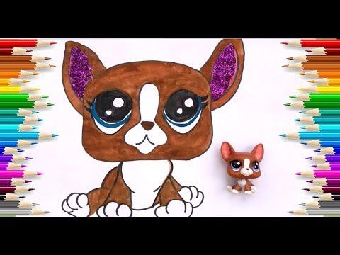 Minişler Simli Boyama Kahverengi Kedi Glitter Littlest Pet Shop