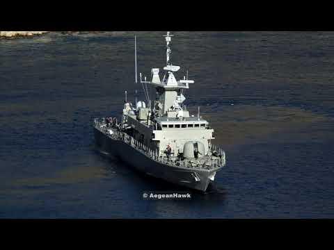Hellenic Navy Roussen class P71 HS Ritsos deployment in Kastellorizo island.