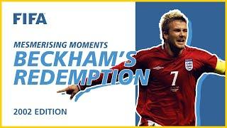 Beckham s Argentina Redemption Korea Japan 2002 Mesmerising Moments