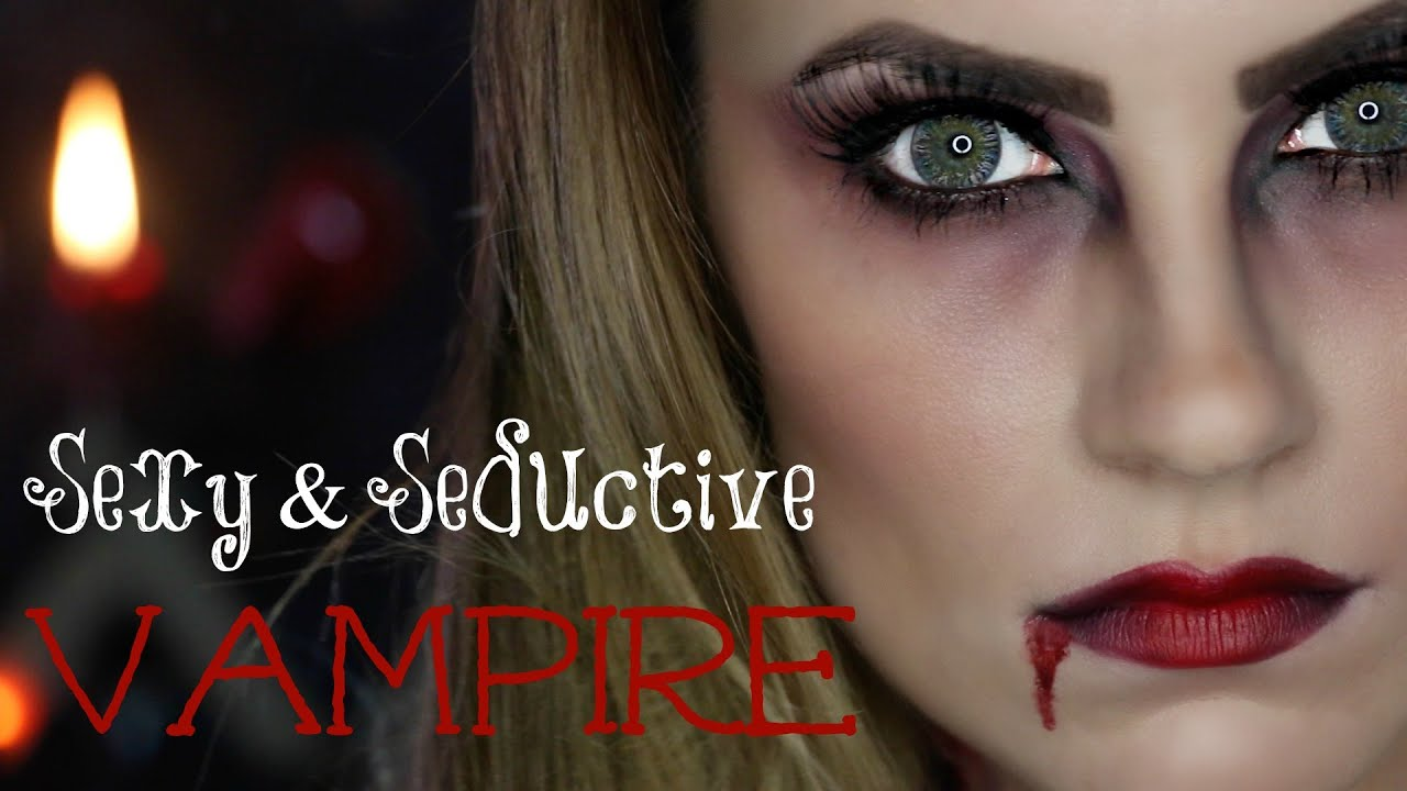 Angela Haze sexy vampire halloween makeup tutorial | angela lanter
