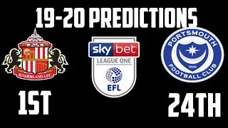 2019-20 EFL League One Predictions