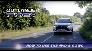 How to use 4WD & S-AWC on the Outlander PHEV[MITSUBISHI MOTORS…