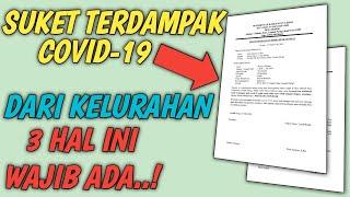 Contoh Surat Keterangan Terdampak Covid-19 Dari Kelurahan    Bisa Di Download