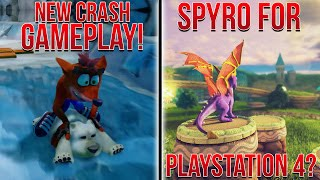 Spyro Hinted Towards Coming to PS4? NEW Crash Bandicoot PS4 Gameplay!