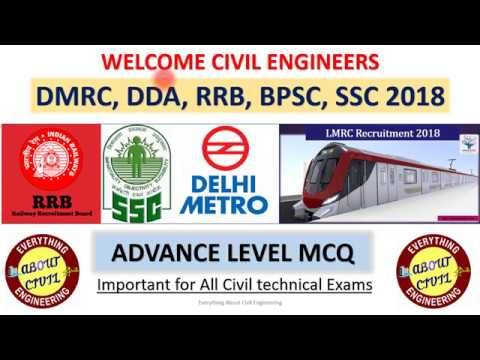 DMRC & DDA Expected MCQ part-2 || Civil Engineering MCQ with Explanation