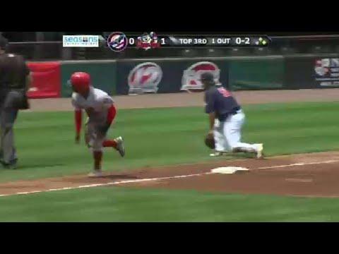 Louisville's Winker hits walk-off single from YouTube · Duration:  47 seconds