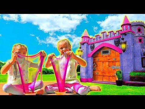 Las Ratitas hacen slime jugando en un castillo!!