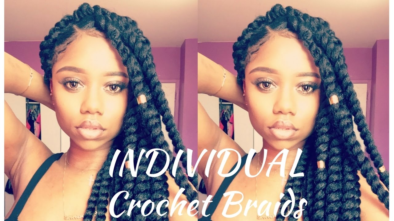 individual crochet braids !!!! | senegalese twist | protective style | model model 2x jumbo twist