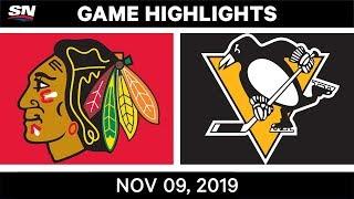 NHL Highlights   Blackhawks vs. Penguins – Nov. 9, 2019