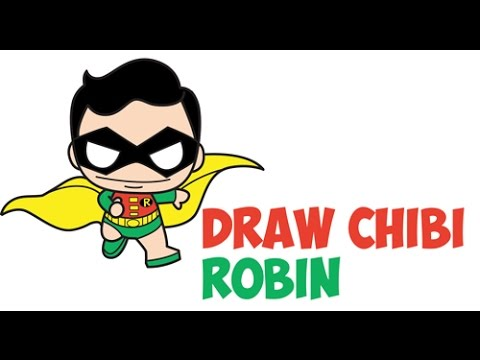 How To Draw Cute Chibi Robin From Batman Dc Comics Easy Step By Step