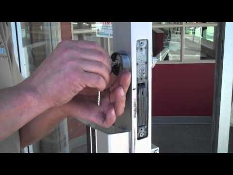 How to Replace a Key Cylinder in a Commercial Storefront