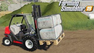 Załadunek wełny wózkiem widłowym - Farming Simulator 19 | #90