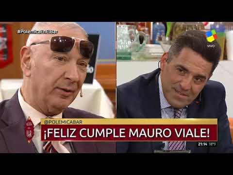 Emotivo festejo de cumpleaños de Mauro Viale