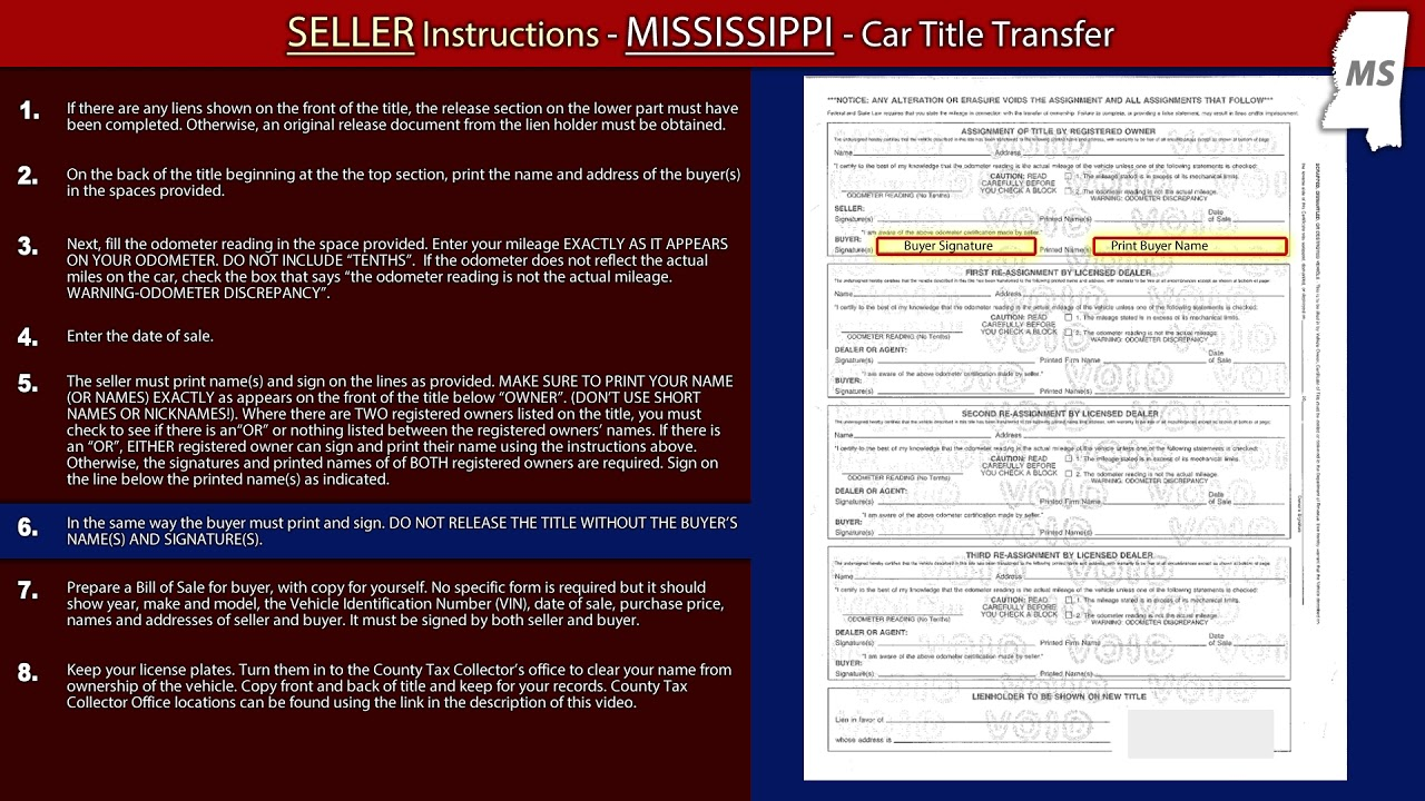 mississippi bill of sale