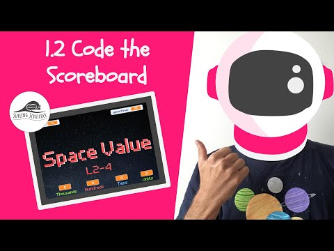 Place Value Scratch Game Tutorial | 1.2 Space Value | Code the Scoreboard thumbnail