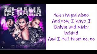 Karol G Mi cama remix Ft. Nicky Jam J Balvin Letra english lyrics.mp3