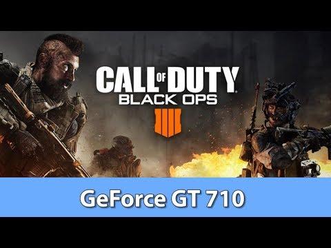 Call of Duty: Black Ops 4 - GeForce GT 710 GDDR5 - Gameplay Benchmark Test (Intel Pentium G5400)