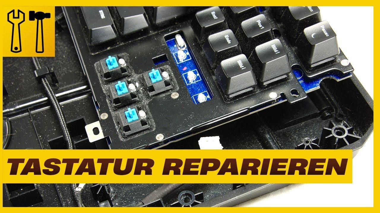 Kaputte Leds Einer Tastatur Reparieren Reparatur Und Reinigung Roccat Ryos Tkl Pro Youtube