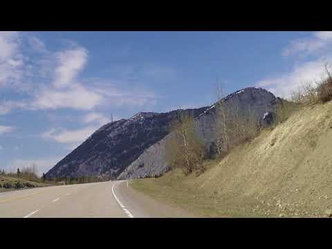 Crowsnest Pass - Driving from Alberta to Sparwood, British Columbia (BC) - Highway Drive Tour