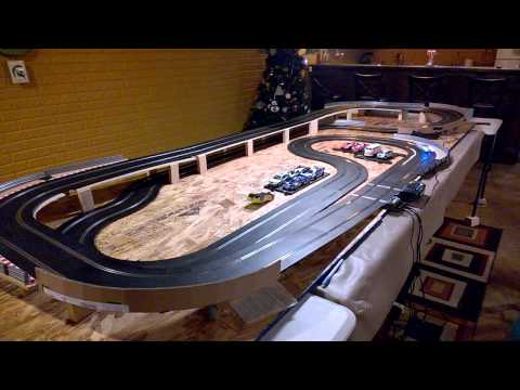 Scalextric Ford GT40 on New Track. 1/32 slot car