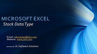 Microsoft Excel - Stock Data Type