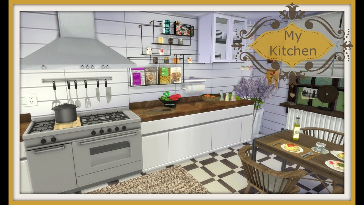 Sims 4 Speed Build My Kitchen Youtube