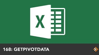 using the GETPIVOTDATA Function to Build an Excel Dashboard  Everyday Office 058