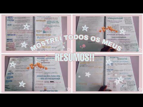 TOUR PELO MEU CADERNO DE RESUMOS!!!💗