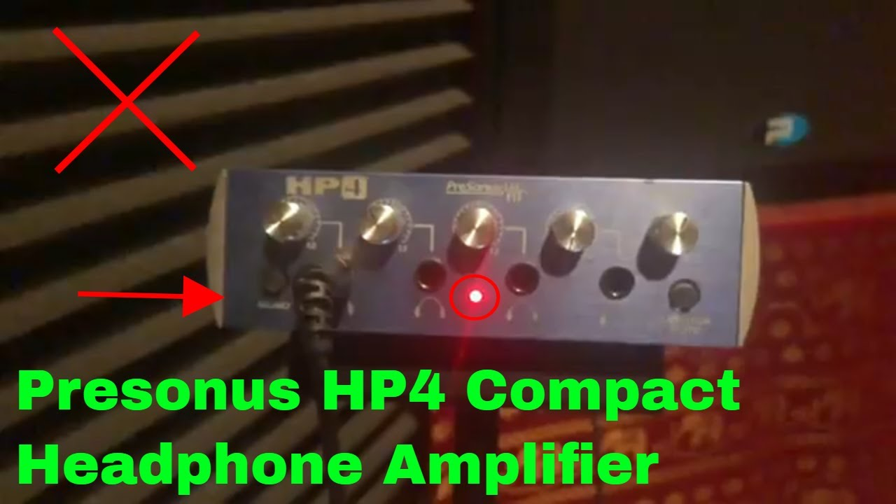 7f044dc50b7 ✅ How To Use Presonus HP4 Compact Headphone Amplifier Review - YouTube