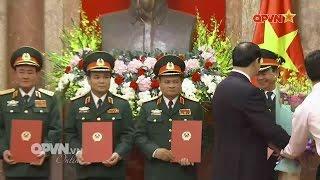 Thăng quân hàm Thượng tướng 4 sĩ quan cấp cao Quân đội Việt Nam