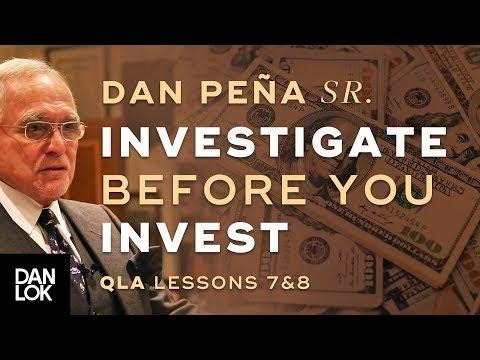Dan Peña, Sr. 1993 QLA Lessons 7 & 8 - Investigate Before You Invest