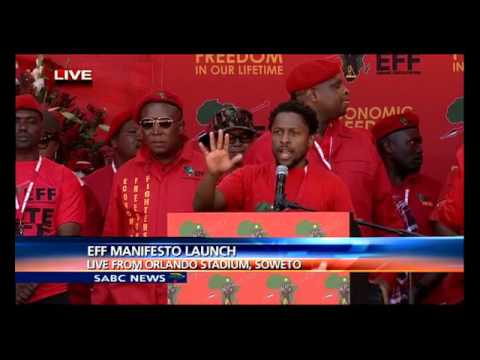 EFF Election Manifesto launch gets underway