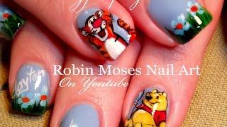 Winnie the Pooh & Tigger Nails | Cute Spring Nail Art Design Tutorial