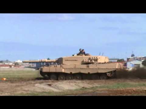 Leopard 2A4 Rheinmetall main battle tank at AAD 2010 Defense Exhibition