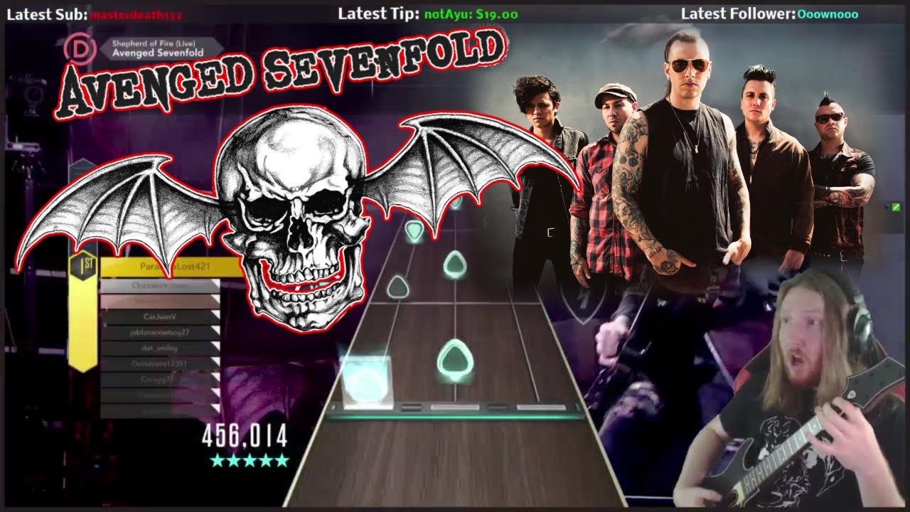 avenged sevenfold shepherd of fire 100 fc guitar hero live expert youtube