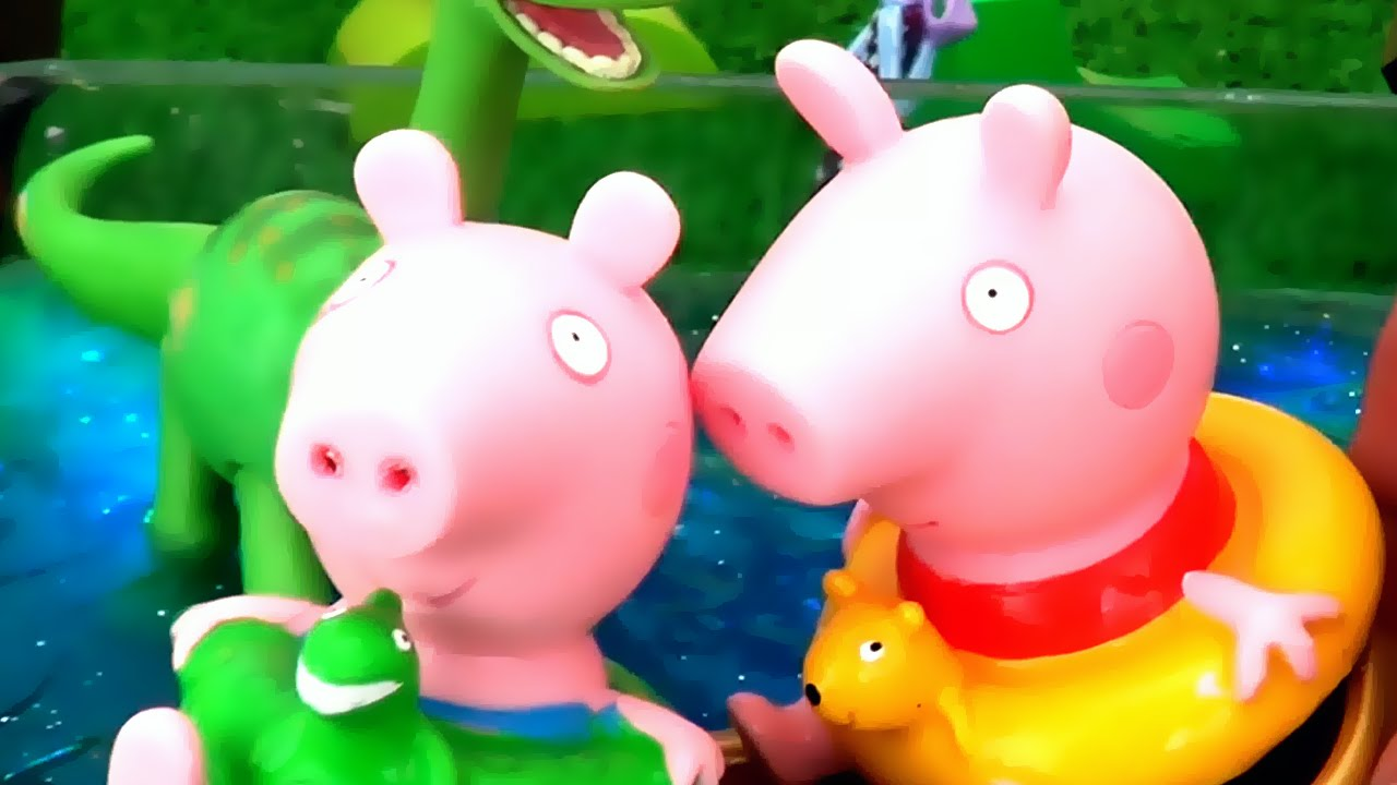 peppa pig epic slime pool party with peppa u0026 39 s family and