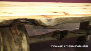 Aspen Lodge Log Coffee Table From Logfurnitureplace.com