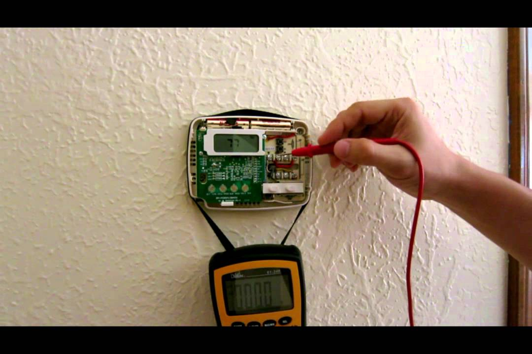 Wiring and troubleshooting Thermostat - heat cold air condition AC
