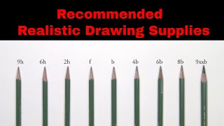 Realistic Pencil Drawing Supplies