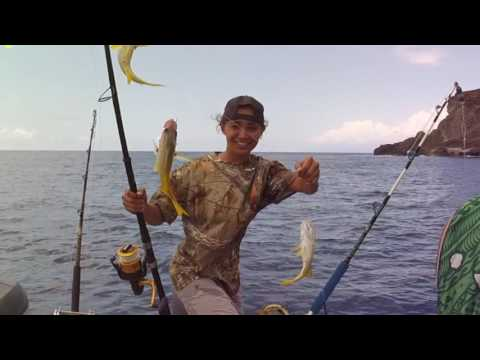 Fishing off Lehua and Niihau