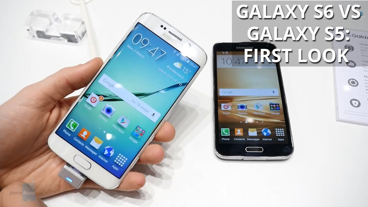 samsung galaxy s6 edge vs galaxy s5 first look youtube. Black Bedroom Furniture Sets. Home Design Ideas
