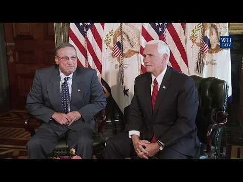 Vice President Pence Participates in a Meeting with Maine Governor Paul LePage