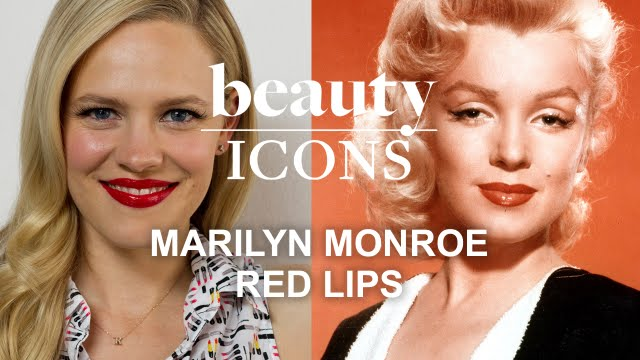 How to Get Marilyn Monroe's Red Lip Look-Celebrity Makeup ...